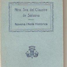 Libros antiguos: NTRA. SRA. DEL CLAUSTRE DE SOLSONA . Lote 23449231