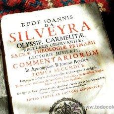 Libros antiguos: 1700 LYON, LIBRO DE JOANNIS DA SILVEYRA, BIEN CONSERVADO, PIEL, CA. 770 PAGINAS. Lote 24737445