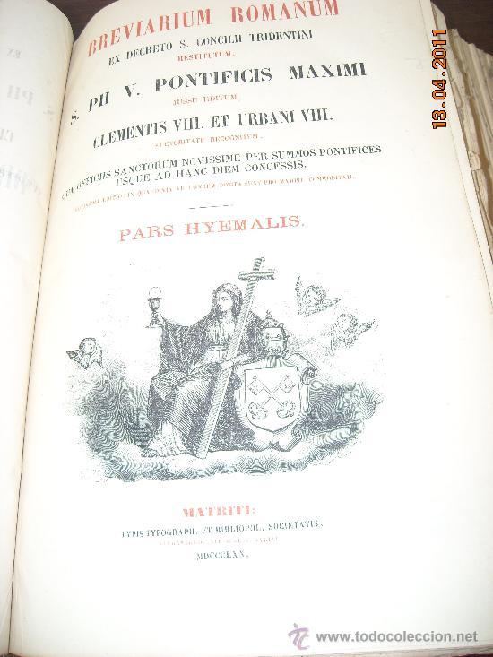 Libros antiguos: Brevarium romanum 1870 - Foto 4 - 26281269
