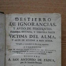 Libros antiguos: DESTIERRO DE IGNORANCIAS, Y AVISO DE PENITENTES. VASCONES (FRAY ALONSO DE). Lote 26739212