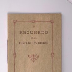 Libros antiguos: RECUERDO DE LA FIESTA DE LOS DOLORES CELEBRADA EN SITGES EN 1917 - MARIA REINA DE LOS MARTIRES. Lote 26861603