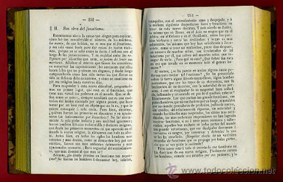 Libros antiguos: LIBROS 2 TOMOS, RESPUESTAS POPULARES A LAS OBJECIONES COMUNES CONTRA LA RELIGION,1871 ,ORIGINALES - Foto 3 - 26980457