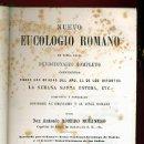 Libros antiguos: LIBRO , NUEVO EUCOLOGIO ROMANO, SIGLO XIX , ORIGINAL, VER FOTOS ADICIONALES.. Lote 27100441