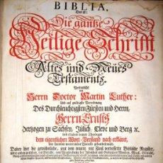 Libros antiguos: LA BIBLIA - VERSIÓN DE MARTIN LUTHER (NUREMBERG, 1720) GRAN FORMATO - CIENTOS DE GRABADOS. Lote 27465199