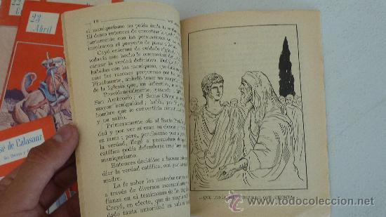 Libros antiguos: Coleccion de 12 nuestros santos. Cada uno dedicado a un santo distinto. - Foto 3 - 27494151