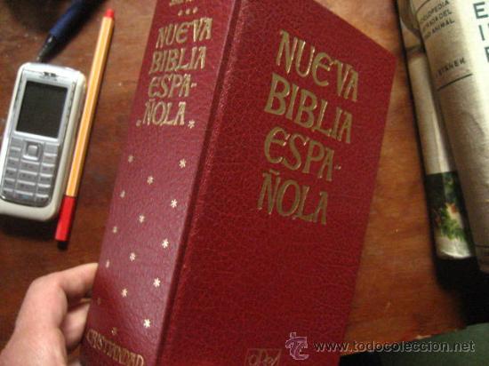 NUEVA BIBLIA ESPAÑOLA, SCHOKEL, MATEOS, CRISTIANDAD EDICIONES, 1980 PP( RR13 (Libros Antiguos, Raros y Curiosos - Religión)