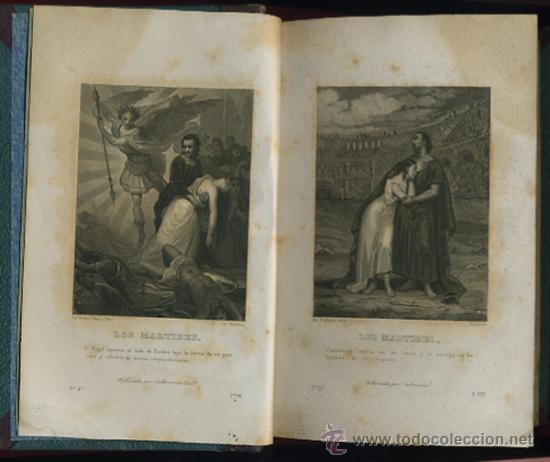 Libros antiguos: LIBRO LOS MARTIRES O EL TRIUNFO DE LA RELIGION CRISTIANA, VALENCIA 1844, CHATEAUBRIAND, 2 TOMOS - Foto 3 - 27978416