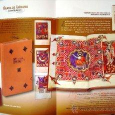Libros antiguos: BEATO DE LIÉBANA CÓDICE DE NAVARRA, SIGLO XII. FACSÍMIL. Lote 28359175