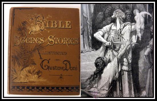 1883 BIBLIA ILUSTRACIONES DE GUSTAVE DORE ESCENAS E HISTORIA PARA LOS JOVENES (Libros Antiguos, Raros y Curiosos - Religión)