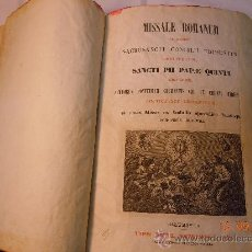 Libros antiguos: MISSALE ROMANUM EX DECRETO SACROSANCTI 1847. Lote 28481349