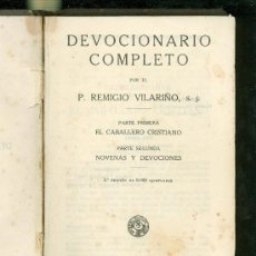Livros antigos: DEVOCIONARIO COMPLETO. P. REMIGIO VILARIÑO, S.J. 5ª EDICION. 1923. 527 PAGINAS.. Lote 187571338