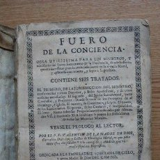Libros antiguos: FUERO DE LA CONCIENCIA. MADRE DE DIOS (FR. VALENTÍN DE LA). Lote 28669983