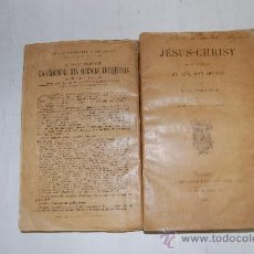 Libros antiguos: JÉSUS-CHRIST. SON TEMPS, SA VIE, SON OEUVRE.E. DE PRESSENSÉ .RM54614. Lote 28944540