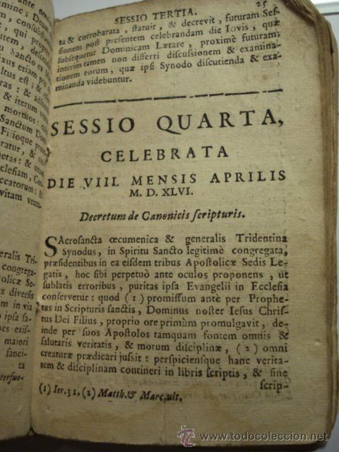 Libros antiguos: EXCELENTE Y RARO LIBRO AÑO 1563 - CONCILIO DE TRENTO - CONCILLI TRIDENTINI - 406 PAGINAS - Foto 5 - 29279697