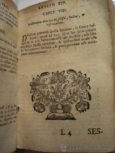 Libros antiguos: EXCELENTE Y RARO LIBRO AÑO 1563 - CONCILIO DE TRENTO - CONCILLI TRIDENTINI - 406 PAGINAS - Foto 8 - 29279697