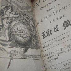Libros antiguos: EMBLEMS, FRANCIS QUARLES, 1736. 95 GRABADOS. Lote 29299209