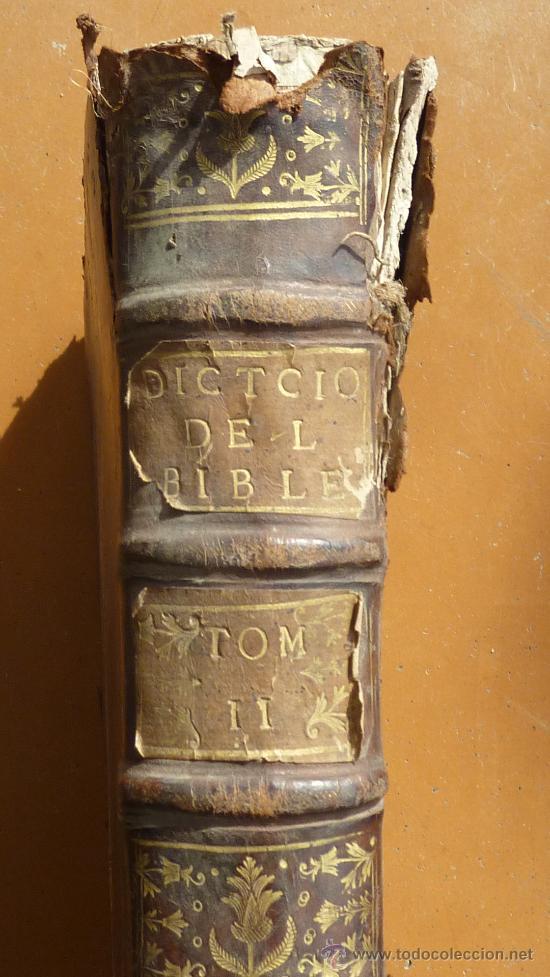 Libros antiguos: libro El gran diccionario de la Biblia. 1740. En frances. - Foto 2 - 30482284
