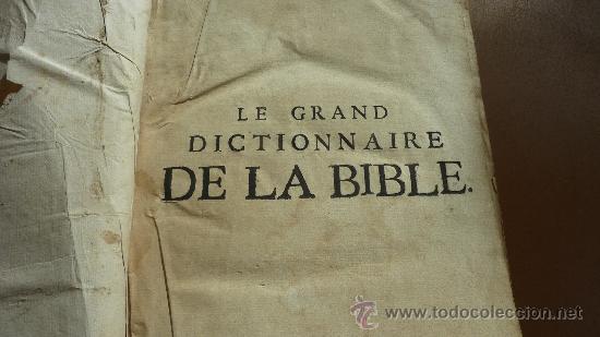 Libros antiguos: libro El gran diccionario de la Biblia. 1740. En frances. - Foto 5 - 30482284