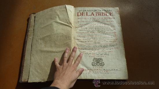 Libros antiguos: libro El gran diccionario de la Biblia. 1740. En frances. - Foto 7 - 30482284