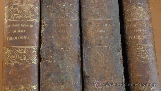 Libros antiguos: 4 tomos. Summa theologica. Completo. 1841. De Petri Lombardi. - Foto 2 - 30501503