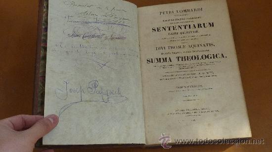 Libros antiguos: 4 tomos. Summa theologica. Completo. 1841. De Petri Lombardi. - Foto 4 - 30501503