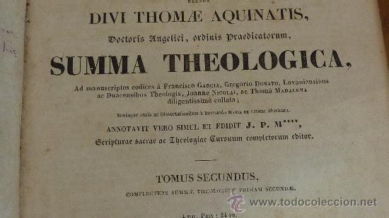 Libros antiguos: 4 tomos. Summa theologica. Completo. 1841. De Petri Lombardi. - Foto 6 - 30501503