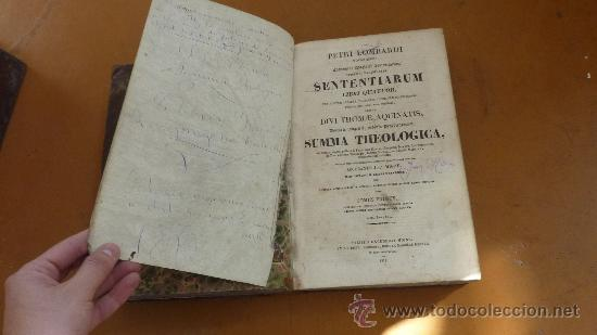 Libros antiguos: 4 tomos. Summa theologica. Completo. 1841. De Petri Lombardi. - Foto 10 - 30501503
