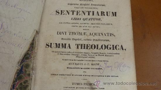 Libros antiguos: 4 tomos. Summa theologica. Completo. 1841. De Petri Lombardi. - Foto 11 - 30501503