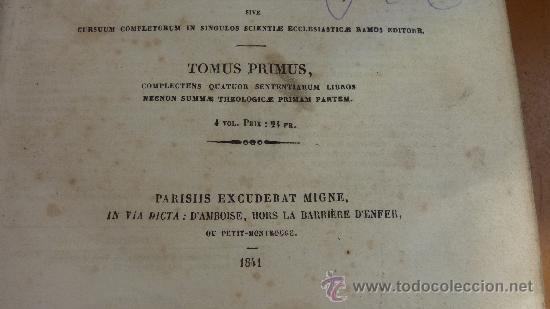 Libros antiguos: 4 tomos. Summa theologica. Completo. 1841. De Petri Lombardi. - Foto 12 - 30501503