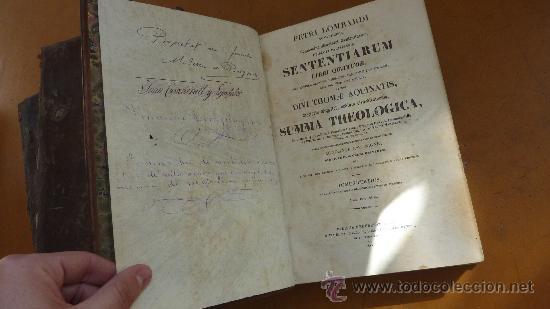 Libros antiguos: 4 tomos. Summa theologica. Completo. 1841. De Petri Lombardi. - Foto 19 - 30501503