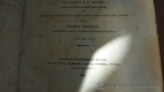 Libros antiguos: 4 tomos. Summa theologica. Completo. 1841. De Petri Lombardi. - Foto 20 - 30501503