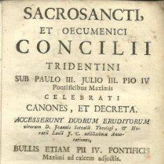 Libros antiguos: * CONCILIO DE TRENTO * BULAS PONTIFICAS * - 1786. Lote 31039665