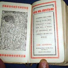 Libros antiguos: GUIA DEL CRISTIANO. TAPA DE NACAR Y CIERRES METALICOS. AÑO 1927. Lote 31020458