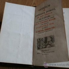 Libros antiguos: OFFICIUM IN EPIPHANIA DOMINI, ET PER TOTAM OCTAVAM: JUXTA MISSALE ET BREVIAR.. Lote 31073134