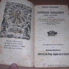Libros antiguos: DEVOTO OCTAVARIO AL SANTISIMO SACRAMENTO DEL ALTAR, BARCELONA S.XIX, 47 PAG, SEÑALES DE USO. Lote 31083642