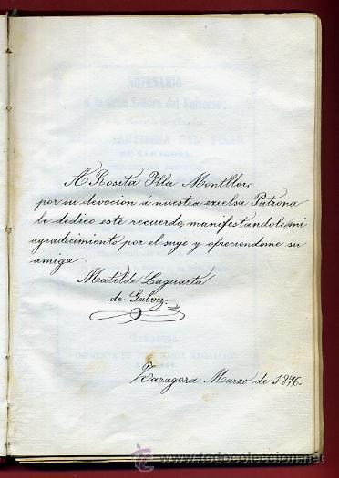 Libros antiguos: LIBRO, NOVENARIO SRA DEL UNIVERSO, MARIA SANTISIMA DEL PILAR ZARGOZA, 1862 , ORIGINAL - Foto 3 - 31710563