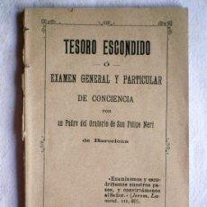 Libros antiguos: TESORO ESCONDIDO - ORATORIO DE SAN FELIPE NERI - BARCELONA AÑOS 20-30. Lote 31787610