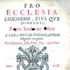 Libros antiguos: PROPRIA SANCTORUM OFFICIA. VALLIS-OLETIS (VALLADOLID), 1718. CYL. VALLADOLID, LEÓN. Lote 32100636