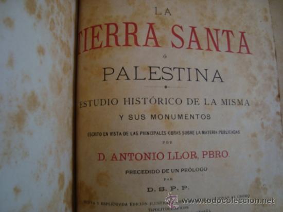 Libros antiguos: La Tierra Santa ó Palestina. 1896.salvador ribas ed. - Foto 4 - 32211590