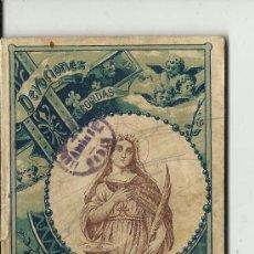 Libros antiguos: SATURNINO CALLEJA.1903.NOVENA A SANTA LUCIA. Lote 32362637