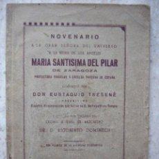Libros antiguos: NOVENARIO A LA GRAN SEÑORA... MARIA SANTISIMA DEL PILAR. ZARAGOZA, 1939. 76 PP. Lote 33167398