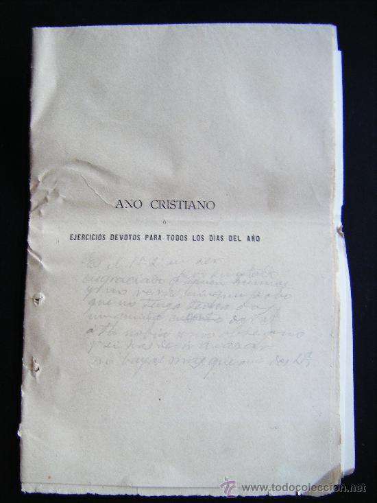 Libros antiguos: COLECCIONABLE AÑO CRISTIANO PRIMERAS PÁGINAS Nº 1, PAPELETA DE SUSCRIPCIÓN, 1891. MADRID, VER FOTOS. - Foto 3 - 33247451