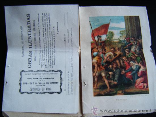 Libros antiguos: COLECCIONABLE AÑO CRISTIANO PRIMERAS PÁGINAS Nº 1, PAPELETA DE SUSCRIPCIÓN, 1891. MADRID, VER FOTOS. - Foto 4 - 33247451
