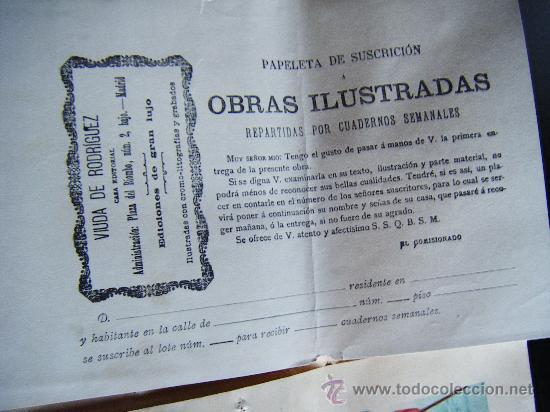 Libros antiguos: COLECCIONABLE AÑO CRISTIANO PRIMERAS PÁGINAS Nº 1, PAPELETA DE SUSCRIPCIÓN, 1891. MADRID, VER FOTOS. - Foto 5 - 33247451