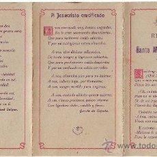 Libros antiguos: CUADRÍPTICO EN RECUERDO DE LA SANTA MISIÓN DE BADAJOZ MARZO 1916. Lote 33290946