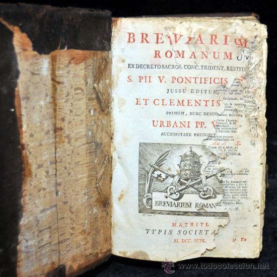 MISAL ROMANO DEL 1799 CON GRABADOS A TODA PÁGINA. (Libros Antiguos, Raros y Curiosos - Religión)
