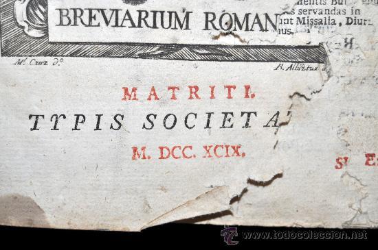 Libros antiguos: MISAL ROMANO DEL 1799 CON GRABADOS A TODA PÁGINA. - Foto 5 - 33650268