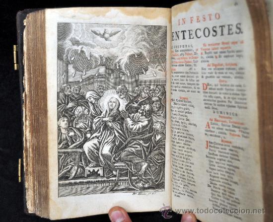 Libros antiguos: MISAL ROMANO DEL 1799 CON GRABADOS A TODA PÁGINA. - Foto 8 - 33650268
