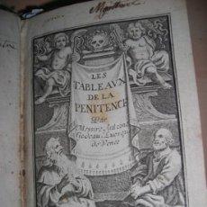 Libros antiguos: LES TABLEAUX DE LA PENITENCE, ANTOINE GODEAU, 1711.CONTIENE 1 FRONTISPICIO Y 22 GRABADOS.. Lote 33868986