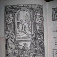 Libros antiguos: JOURNAL DES SAINTS AVEC UNE MEDITATION...., J-E. GROSEZ,1740. CONTIENE 6 GRABADOS. Lote 34209702
